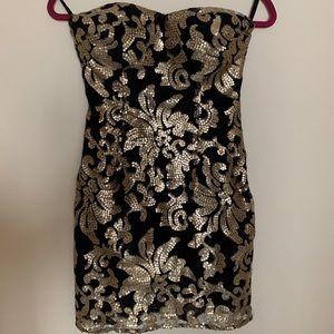 Gianni Bini black & gold sequin dress